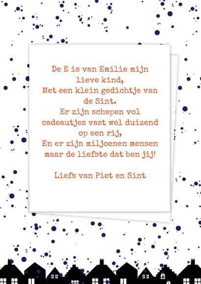 Sinterklaaskaart choco E 3
