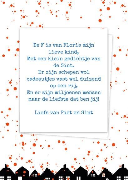 Sinterklaaskaart choco F 3