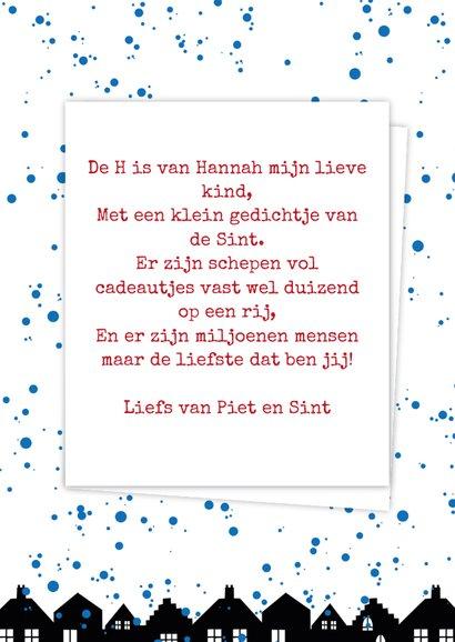 Sinterklaaskaart choco H 3