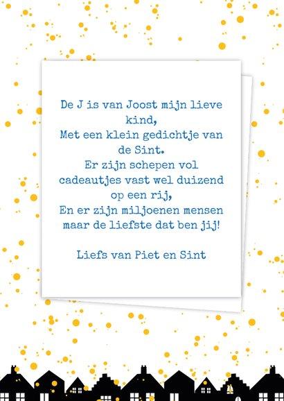 Sinterklaaskaart choco J 3
