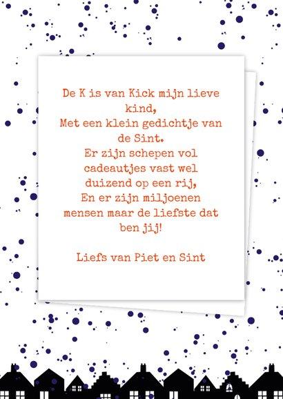 Sinterklaaskaart choco K 3