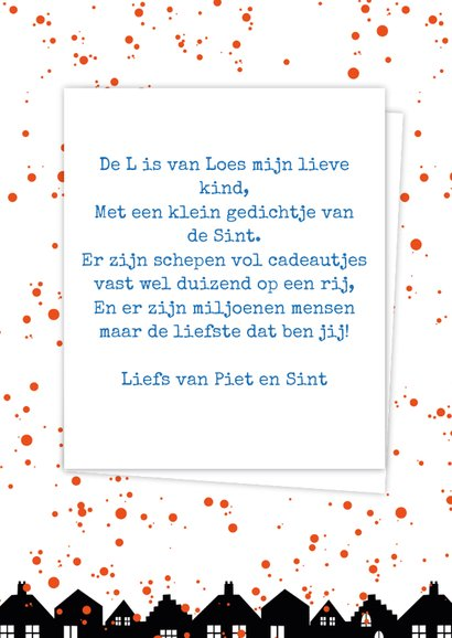 Sinterklaaskaart choco L 3