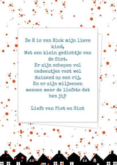 Sinterklaaskaart choco R 3