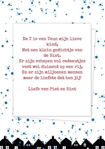 Sinterklaaskaart choco T 3