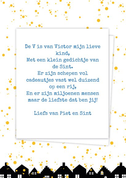 Sinterklaaskaart choco V 3