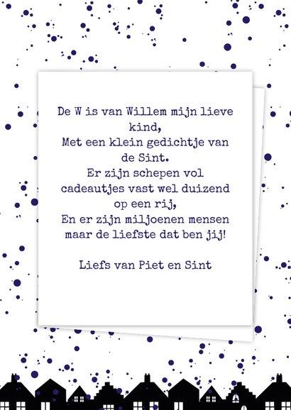 Sinterklaaskaart choco W 3