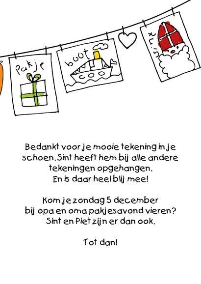 Sinterklaaskaart kindertekeningen Sint en Piet 3
