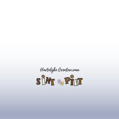 Sinterklaaskaart lief paardje met een mijter en cadeaus 3