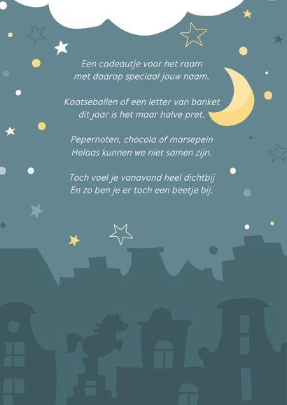 Sinterklaaskaart met gedichtje: We missen jou 2