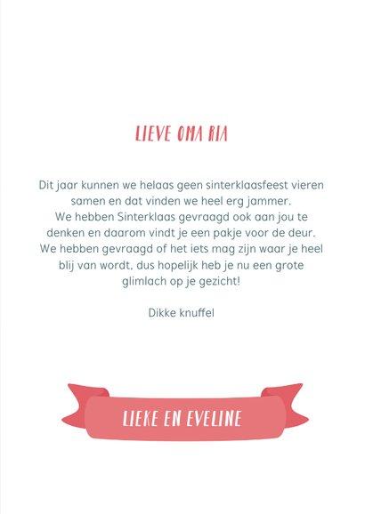 Sinterklaaskaart met gedichtje: We missen jou 3
