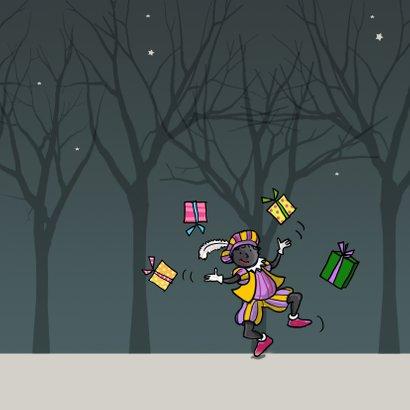 Sinterklaaskaart met piet 3