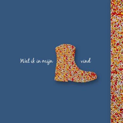 Sinterklaaskaart OH kom er eens kijken chocoladeletter 2