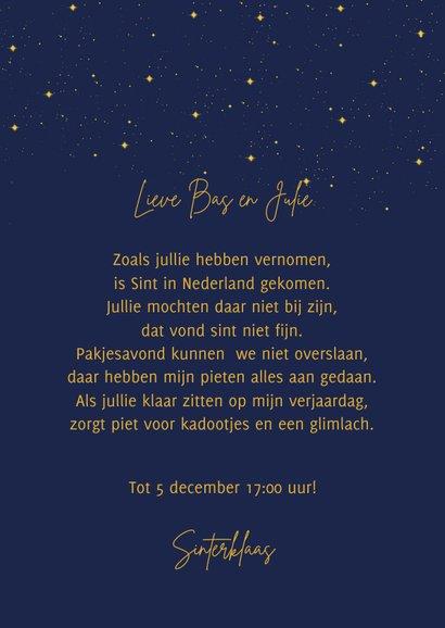 Sinterklaaskaart Pakjesavond 3