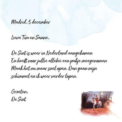 Sinterklaaskaart Schimmel op het dak 3