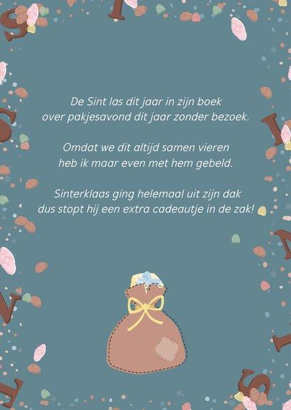 Sinterklaaskaart van oma aan de kleinkinderen met gedicht 2