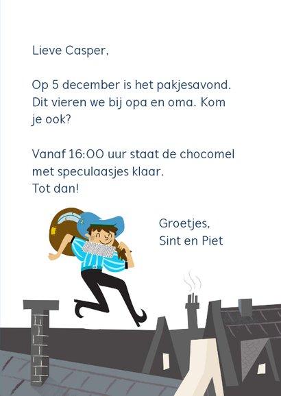 Sinterklaaskaarten - Pieten op het dak 3