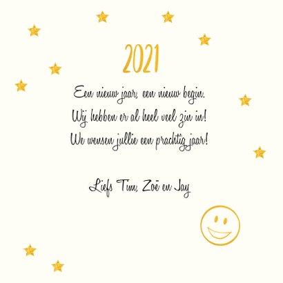 Smiley Happy New Year met jaartal  goudlook 3
