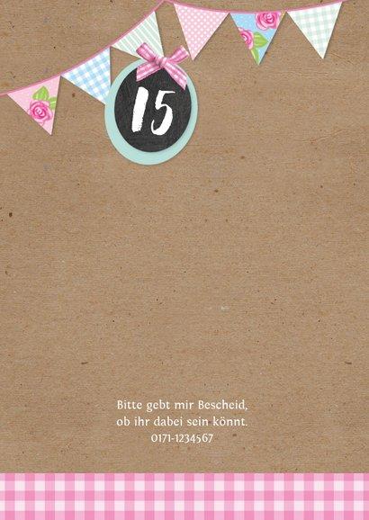 Sommerliche Einladung zum 15. Geburtstag 2