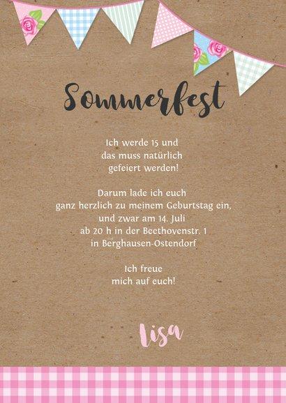 Sommerliche Einladung zum 15. Geburtstag 3