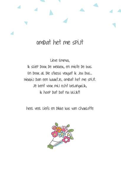 Sorrykaart met huilende dieren 3