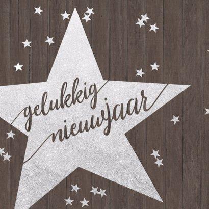 Sparkly Sterren Confetti kerstkaart 2