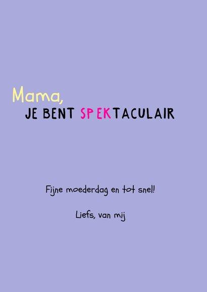 Spectaculaire moederdagkaart voor een vrolijke moeder 3