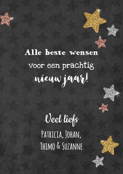 Sprankelende nieuwjaarskaart met alle beste wensen! 3