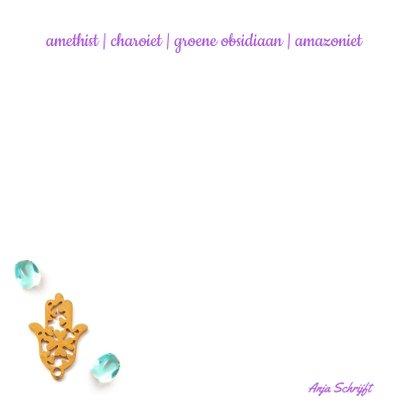 Spreukenkaart innerlijke rust met amethist en viooltjes 2