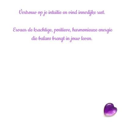 Spreukenkaart innerlijke rust met amethist en viooltjes 3