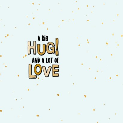 Stay ho ho home - text and gold - feestdagenkaart 2