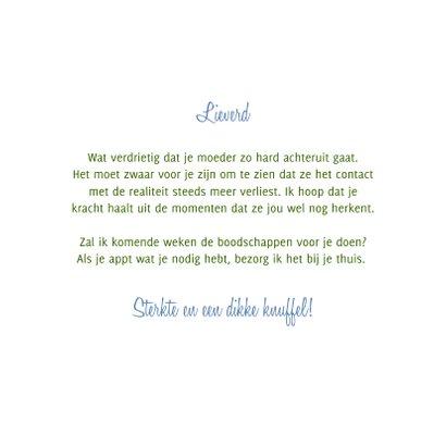 Sterkte Gedicht over Alzheimer met vergeet-me-nietjes 3