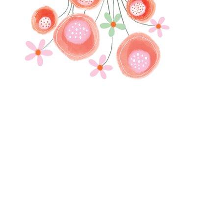 Sterkte kaart bloemen rood - MW 2
