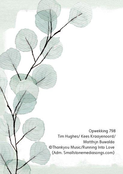 """Sterkte kaart eucalyptus """"Houd vol"""" 2"""