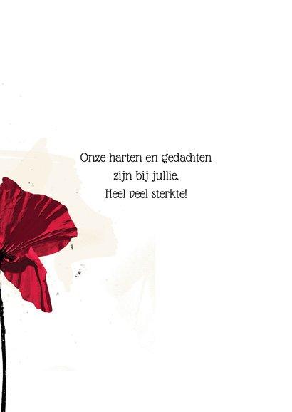 Sterkte kaart klaproos poppy bloem 3