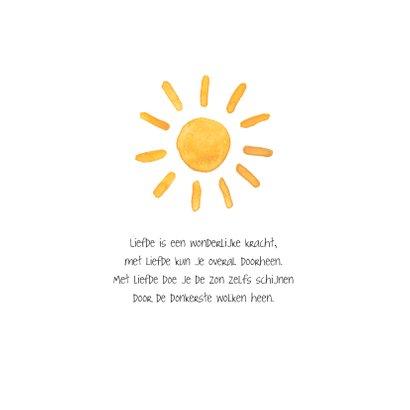 Sterkte kaart zonnestralen moeilijke tijd beterschap zon 2