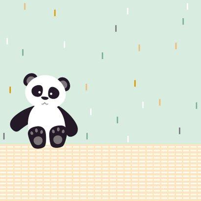 Sterkte kaartje met een lieve panda 2