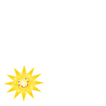 Sterkte kaartje met zonnetje 2