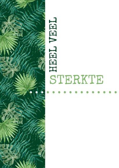 Sterkte Typografisch met botanische print 2