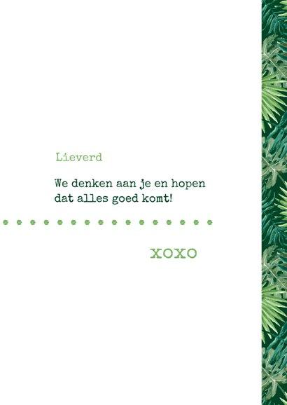 Sterkte Typografisch met botanische print 3