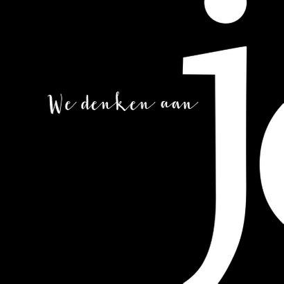 Sterkte typografisch zwart wit 2