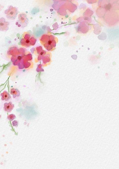 Sterktekaart met aquarel bloemen 2