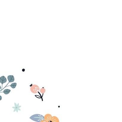 Sterktekaart met bloemenpatroon 2
