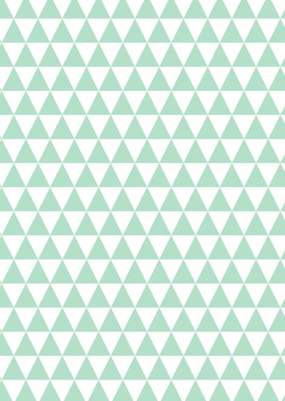 Sterktekaart modern trendy zigzag print mint 2