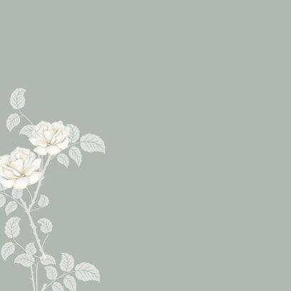 Sterktekaart mooie witte rozen 2