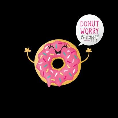 Sterktekaart opbeurend donut worry 2