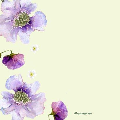 Sterktekaart Paarse bloemen 2