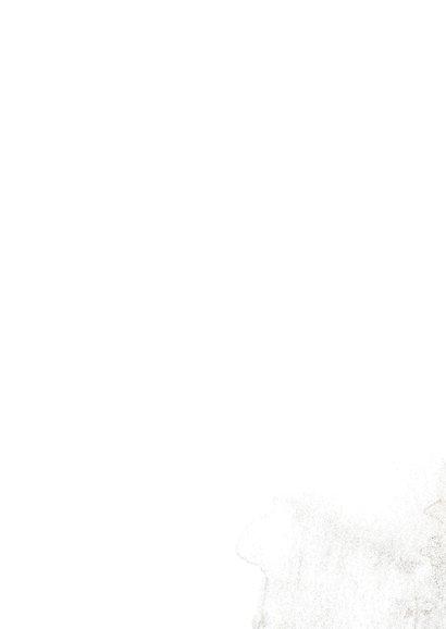 Sterktekaart roze blad op grijs 2