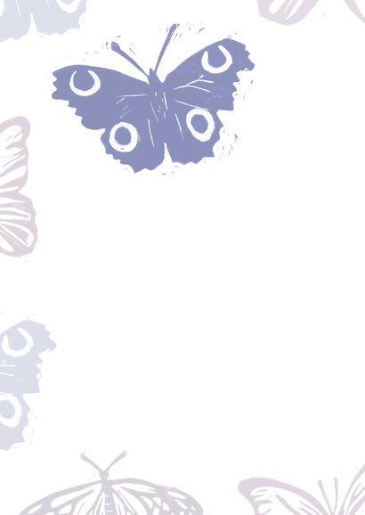 Sterktekaart vlinders en eigen tekst 2