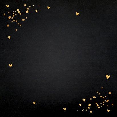Sterktekaart zwart goudlook typografie confetti 2