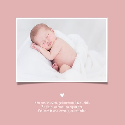 Stijlvol minimalistisch geboortekaartje meisje handlettering 2